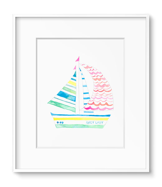 Sailboat: Pink Waves