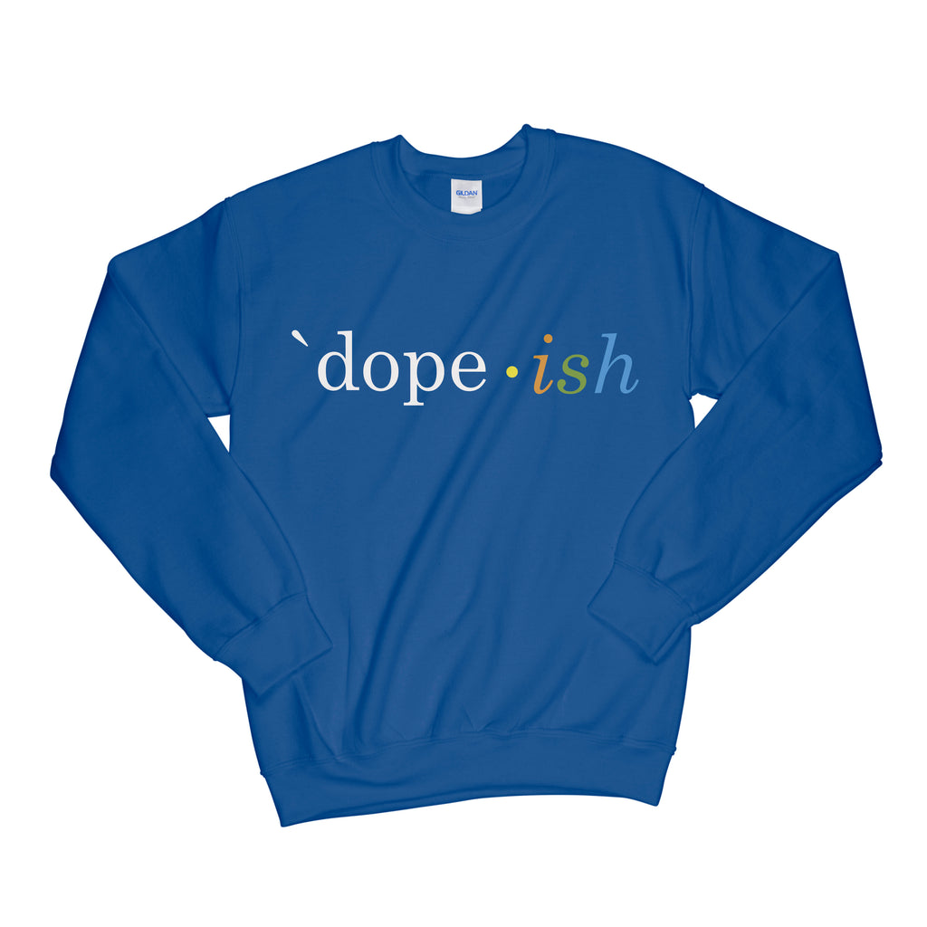 Dopeish Crewneck Royal Blue