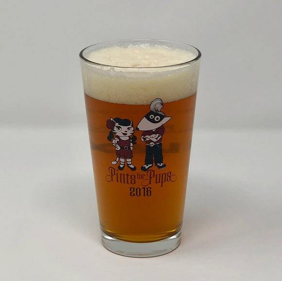 2016 Pints for Pups Glass