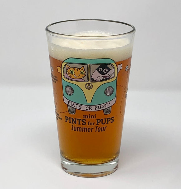 2018 mini Pints for Pups Glass