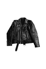 Load image into Gallery viewer, CUSTOM GOD WAS BORN IN BROOKLYN™ BIKER GENUINE LEATHER JACKET
