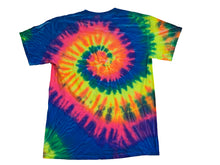 Load image into Gallery viewer, OIA MULTI COLOR SPIRAL TIE DYE TEE