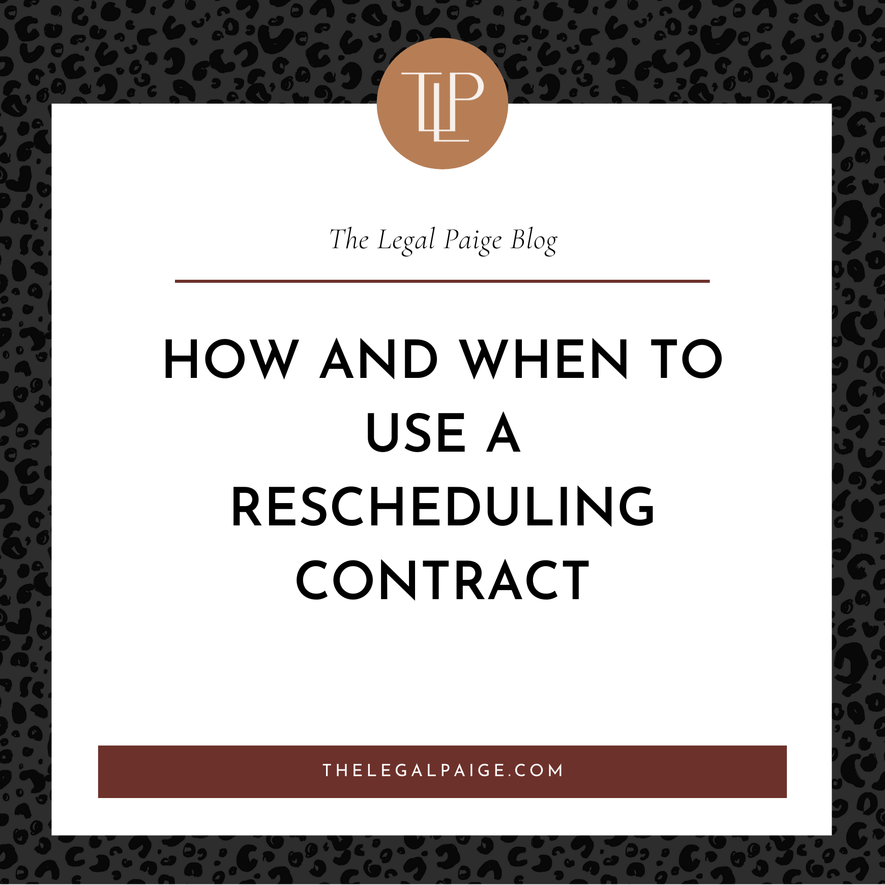 How and When to Use a Rescheduling Contract