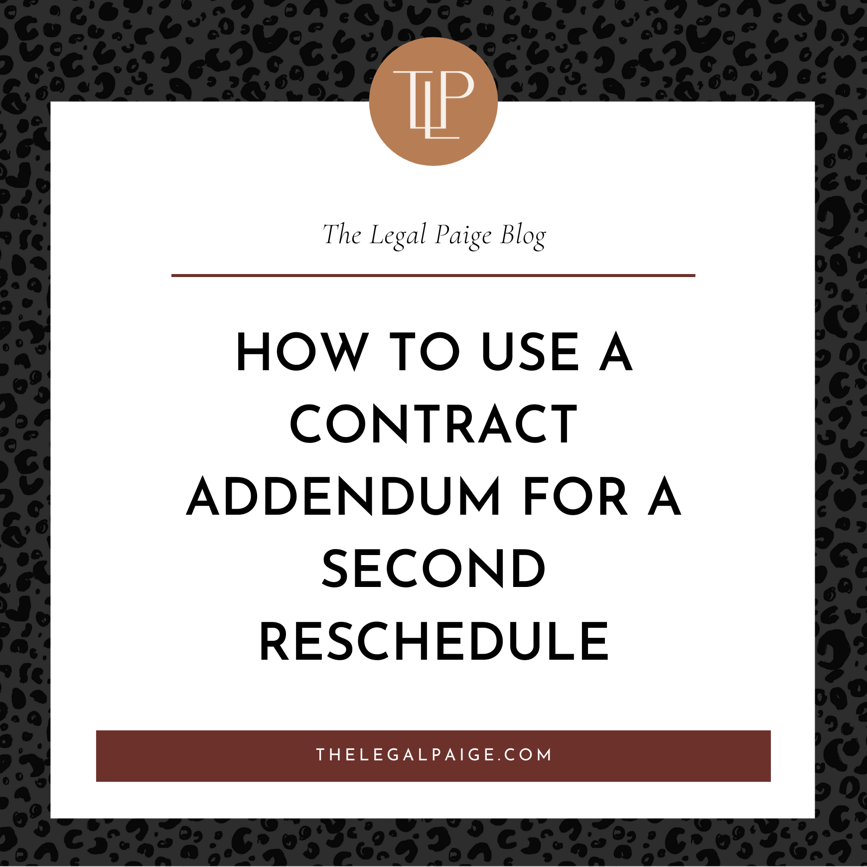 How to Use a Contract Addendum to Reschedule Your Client's Wedding or Event a SECOND time