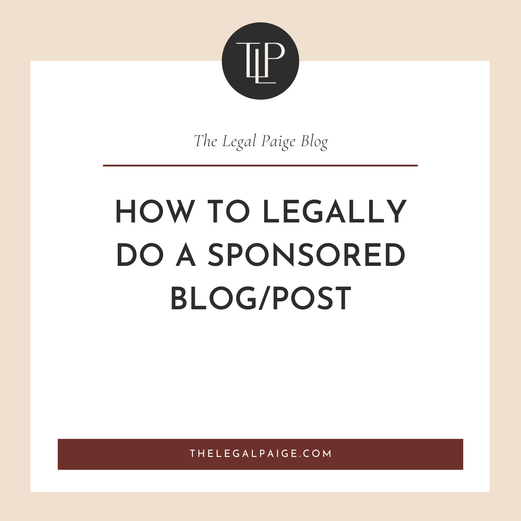 How to Legally Do a Sponsored Blog/Post