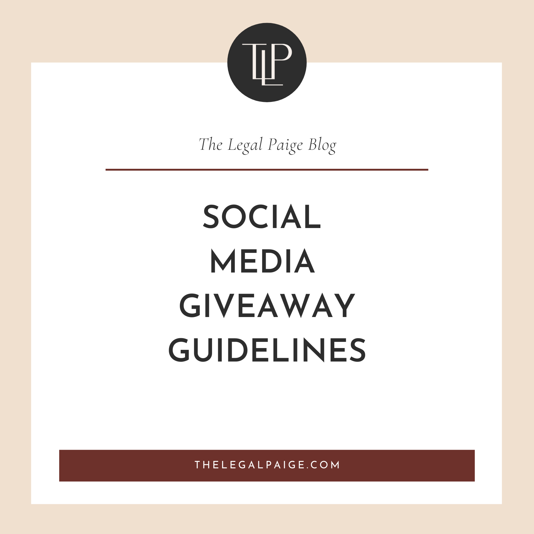 Social Media Giveaway Guidelines