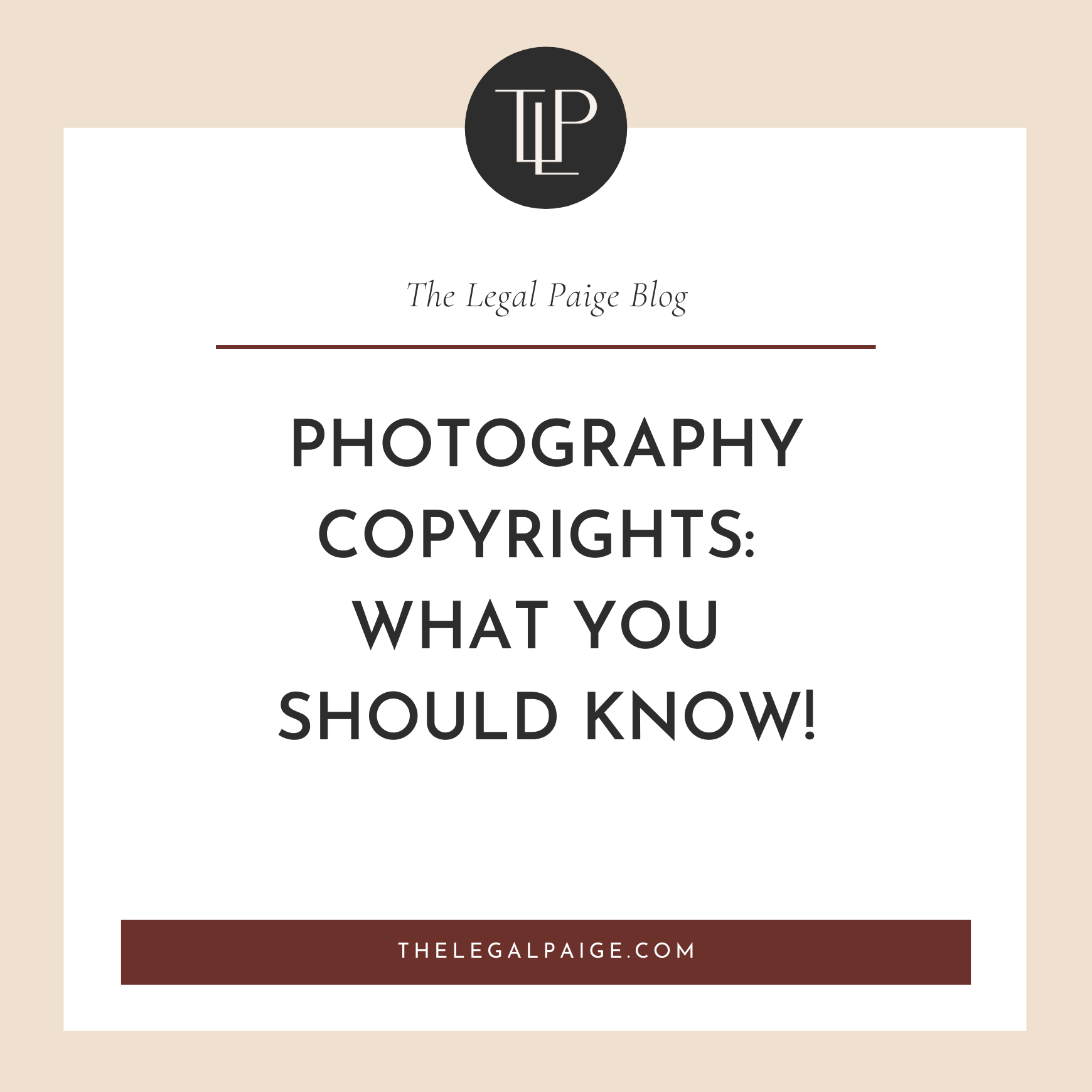 Photography Copyrights: What you should know!