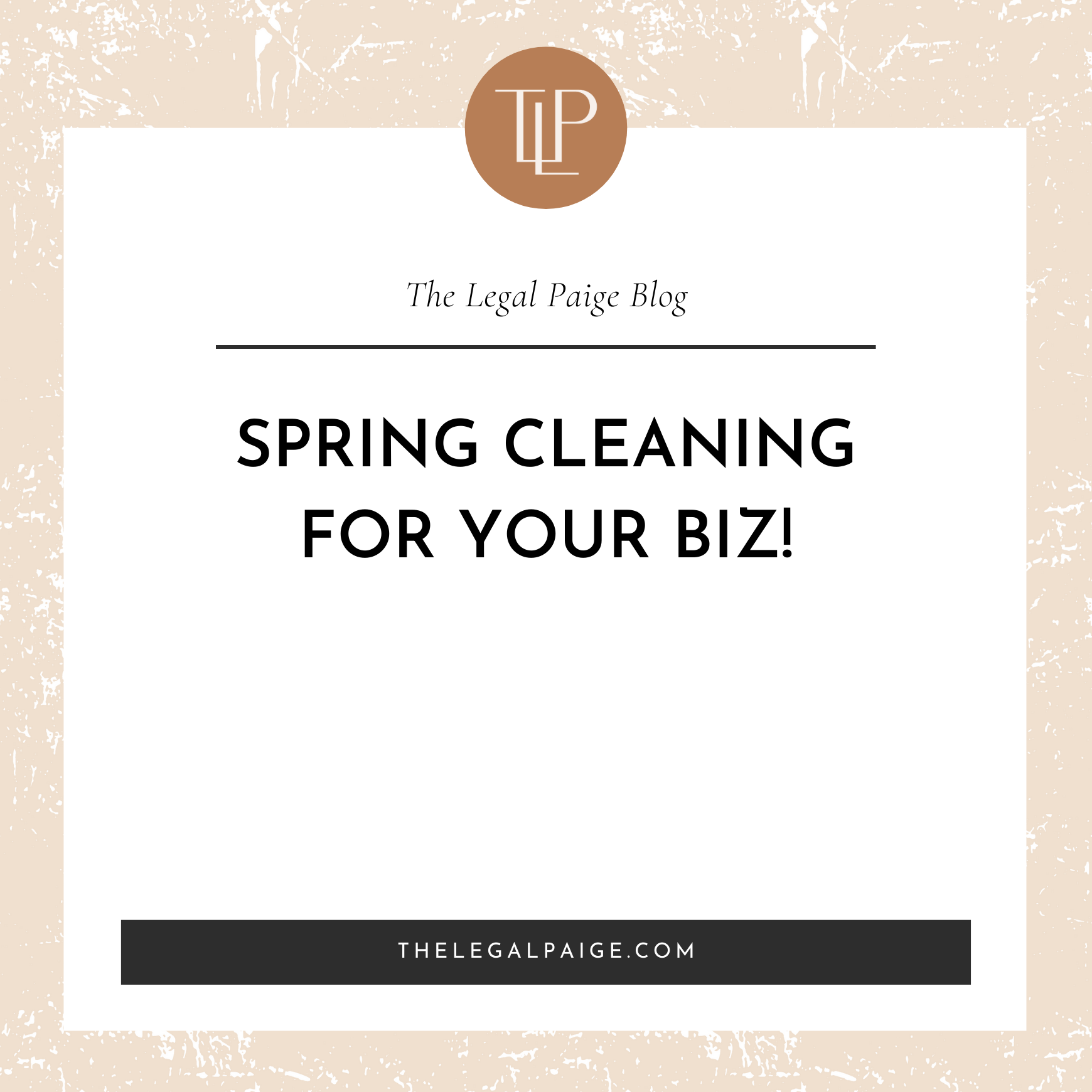 Spring Cleaning for Your Biz!
