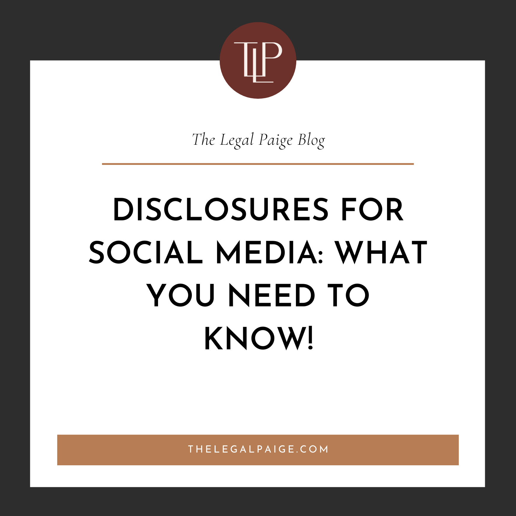 Disclosures for Social Media: What you Need to Know!