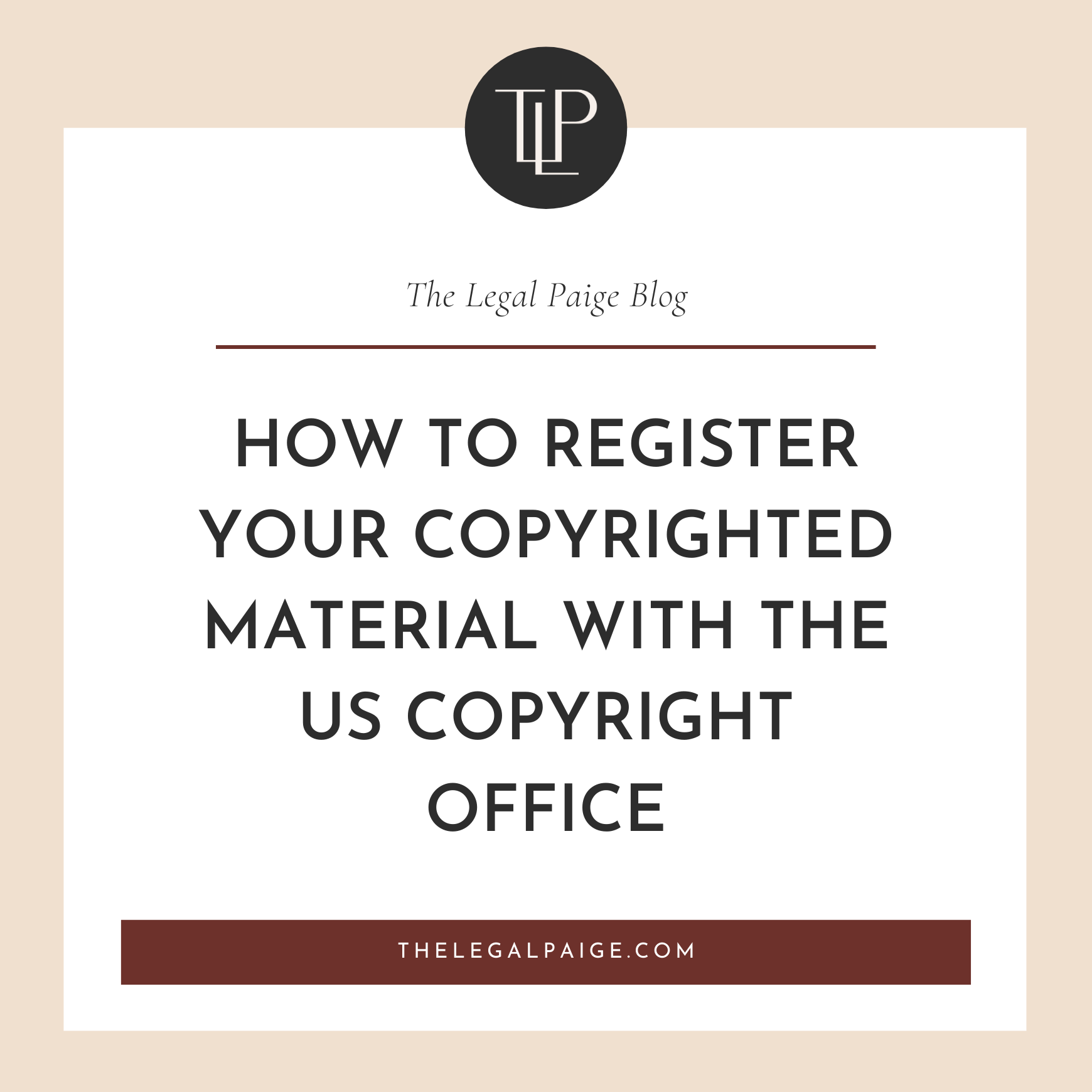 How to Register your Copyrighted Material with the US Copyright Office