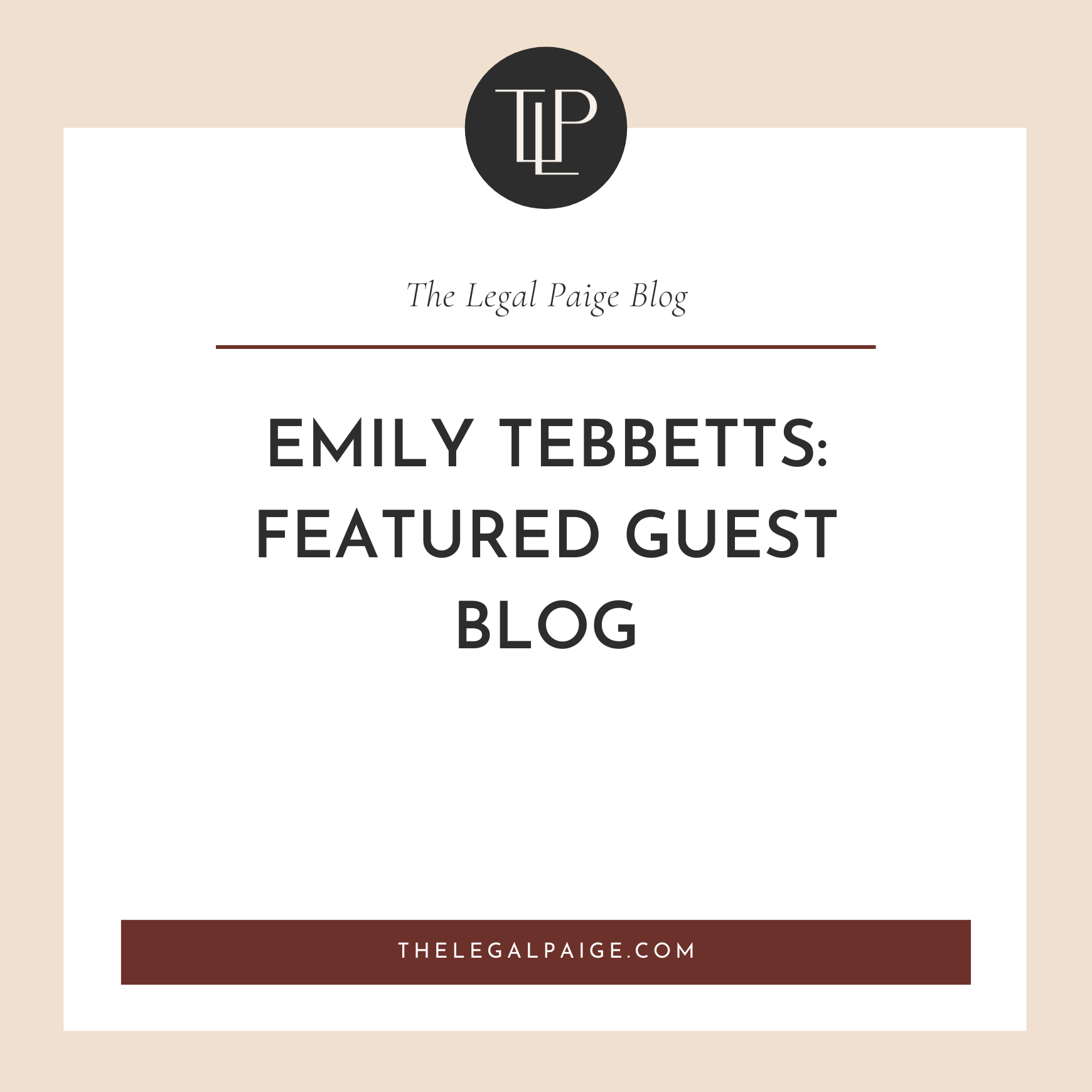 Emily Tebbetts: Featured Guest Blog