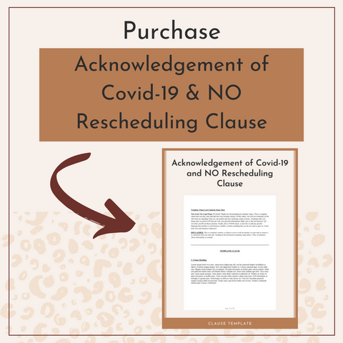 The Legal Paige's Acknowledgement of Covid-19 & NO Rescheduling Clause