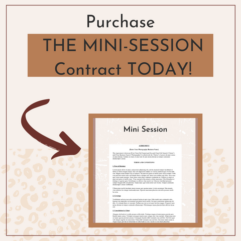 The Legal Paige Mini Session Contract