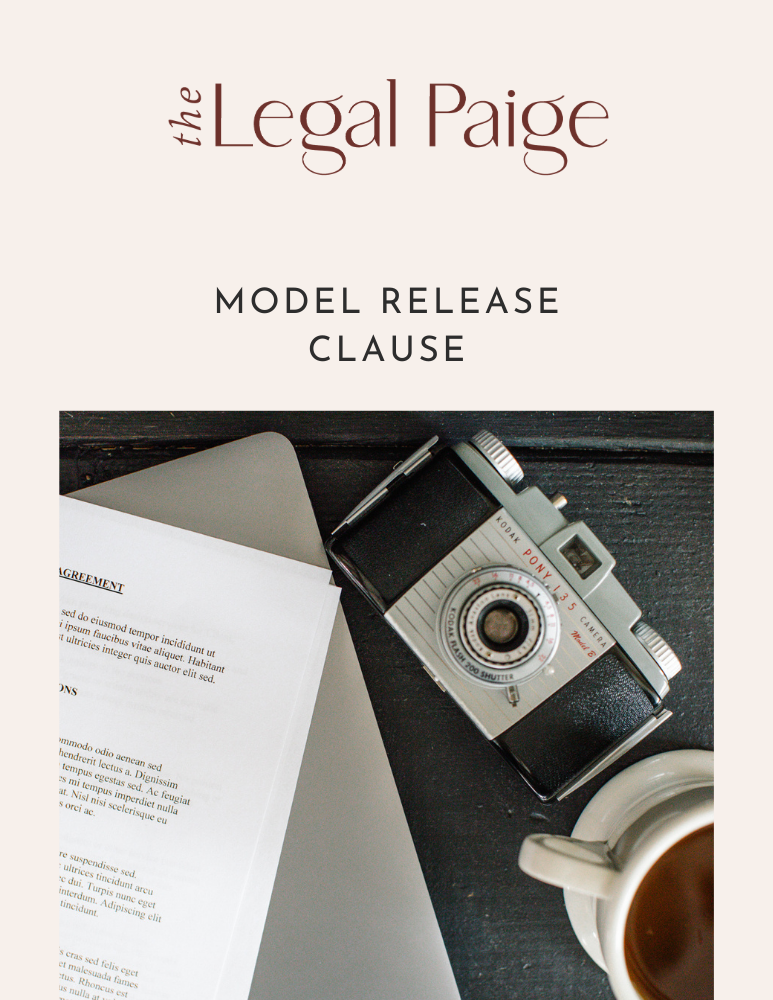 The Legal Paige - Free Model Release Clause
