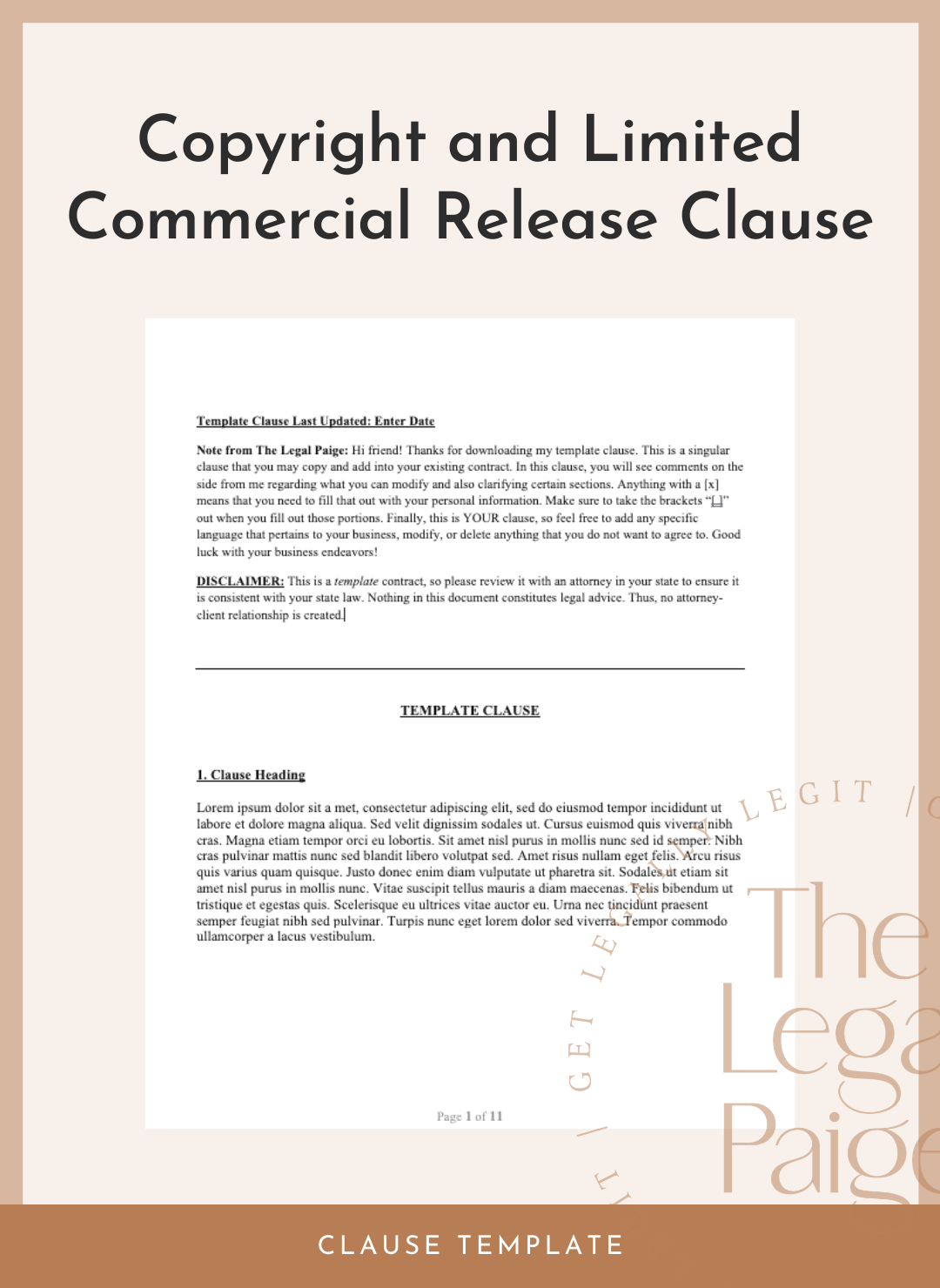 Copyright and Limited Commercial Release Clause