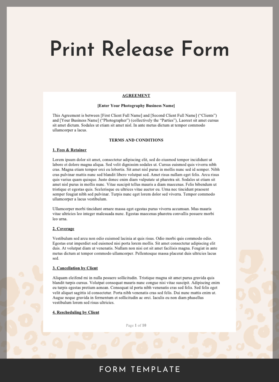 Print Release Form