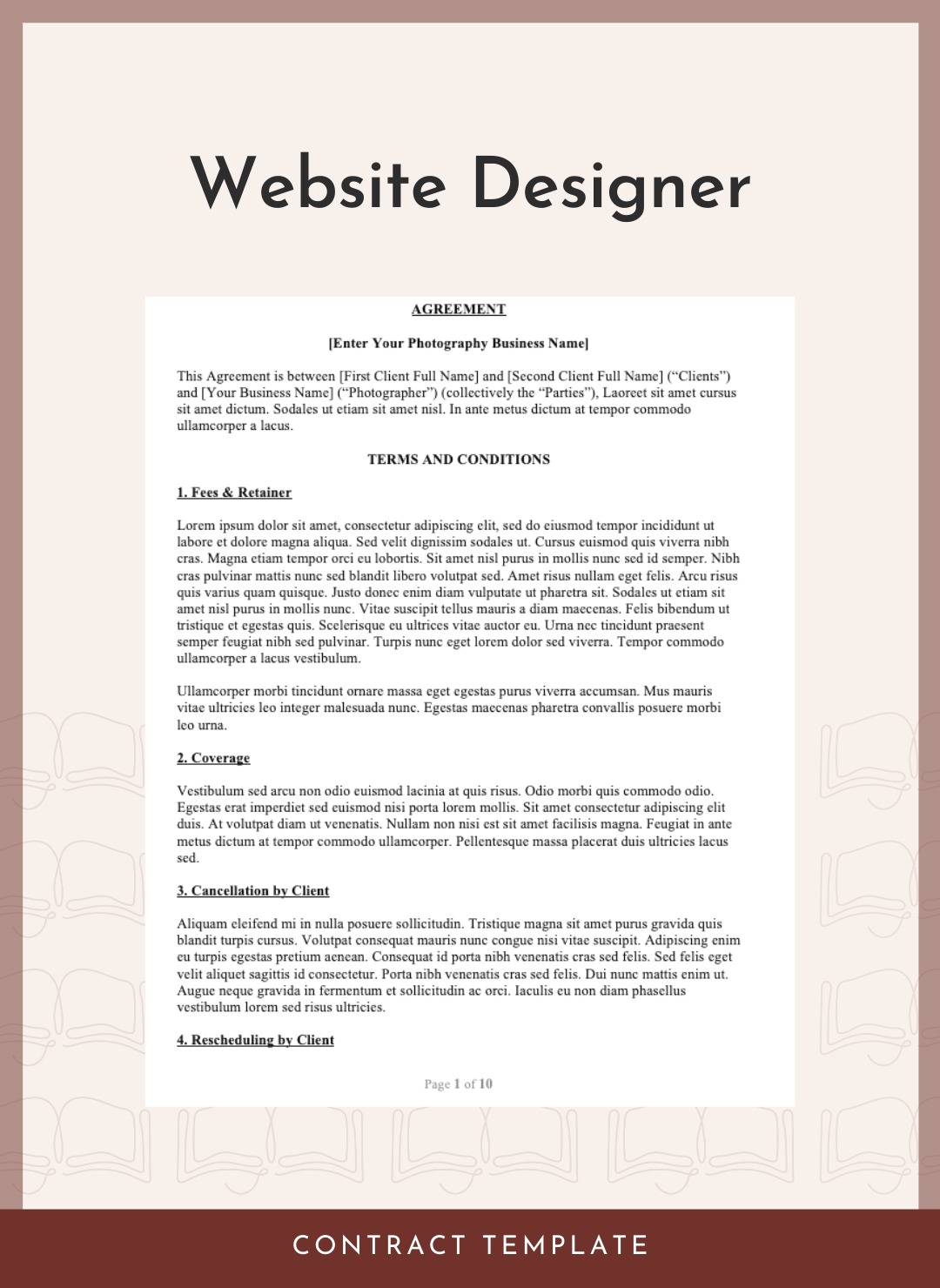 Website Designer Contract