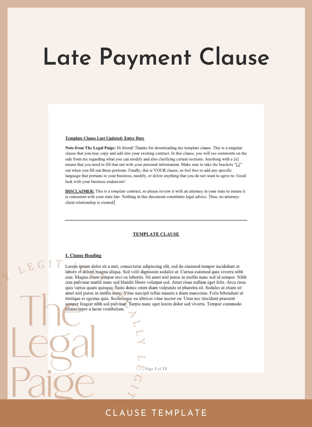 Late Payment Clause