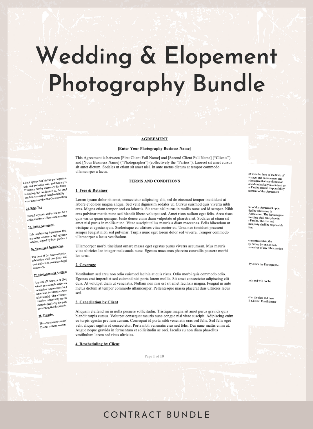 Wedding & Elopement Photography Bundle