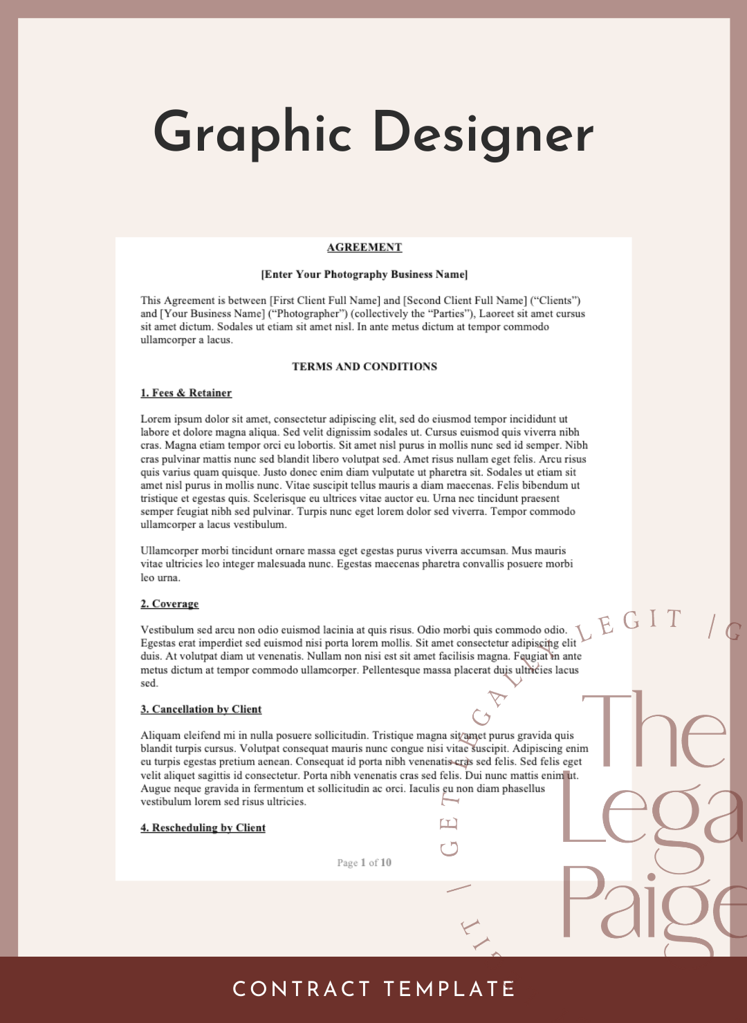 Graphic Designer Contract