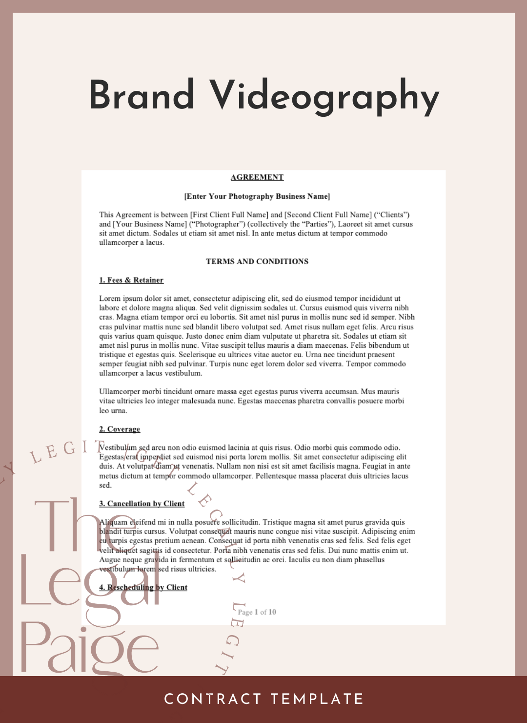 Brand Videography Contract