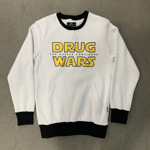 Drug Wars White Crewneck