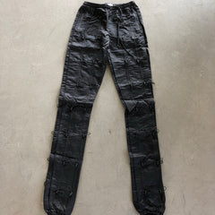 Black Accordion Pants