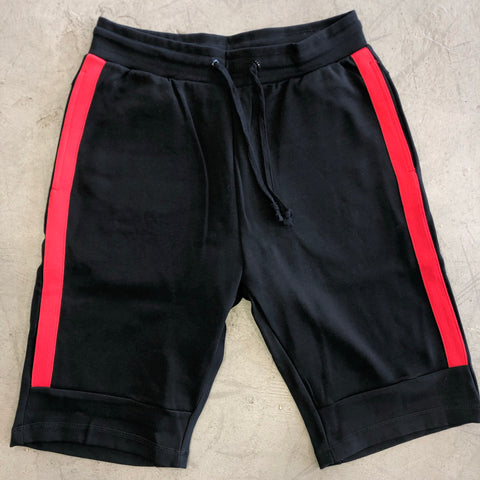 Black/Red Jogger Short
