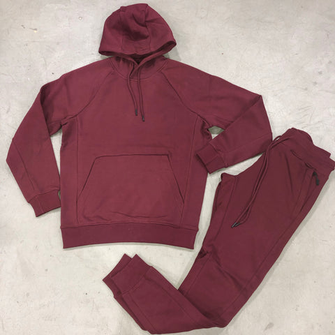 Wine Pullover Jogging Suit