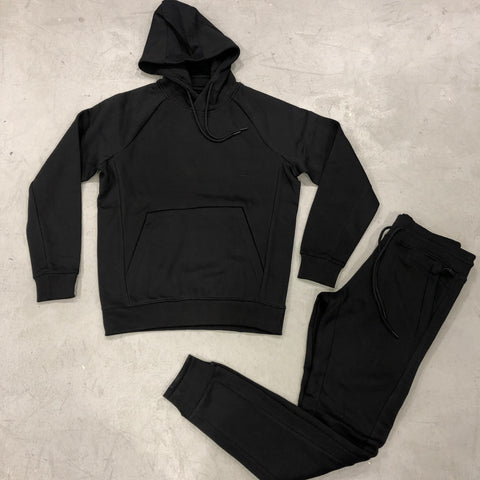 Black Pullover Jogging Suit