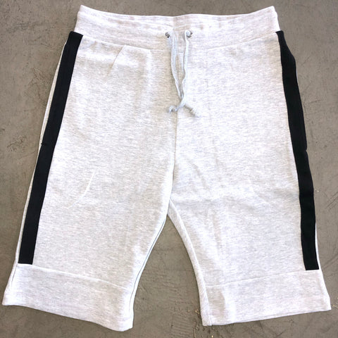 Gray/Black Jogger Short