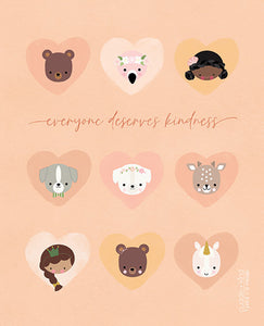 everyone deserves kindness print