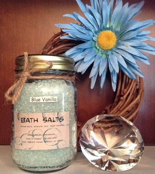 Blue Vanilla Bath Salts
