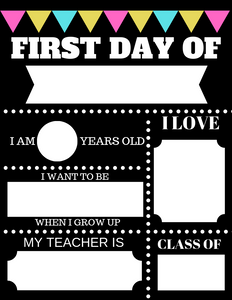 image relating to First Day of School Printable titled Free of charge Initially Working day of College or university Printable Penny Lane Styles