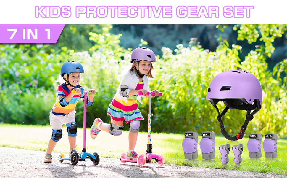 skating protective gear for a child