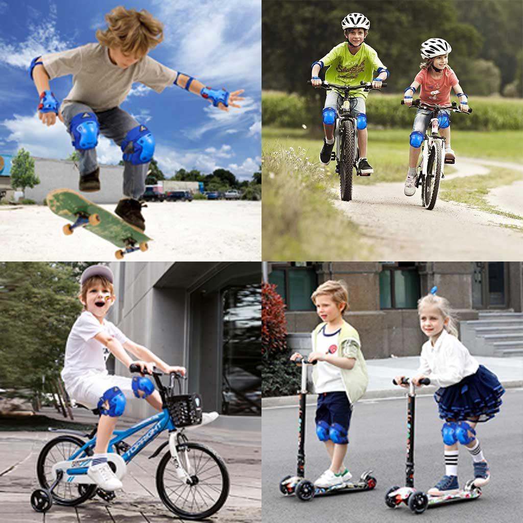 Kid's protective gears for riding, hiking, cycling, inline skating, skateboarding, mountain biking, roller skating, skiing
