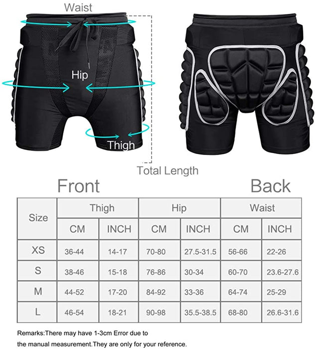 3D Padded Protective Shorts
