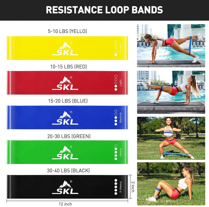 Workout Resistance Bands Set of 18