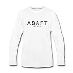 Abaft Logo Long Sleeve Tee - white