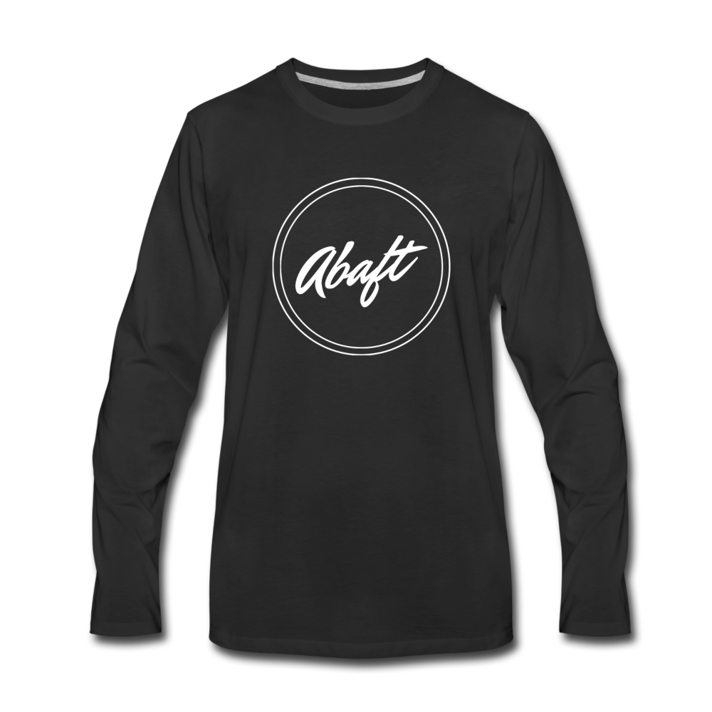 Circle Logo Long Sleeve Tee - black