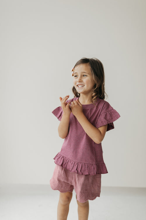 Organic Cotton Eden Top - Pink Raspberry