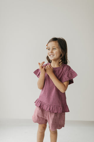 Organic Cotton Muslin Blake Singlet - Grape