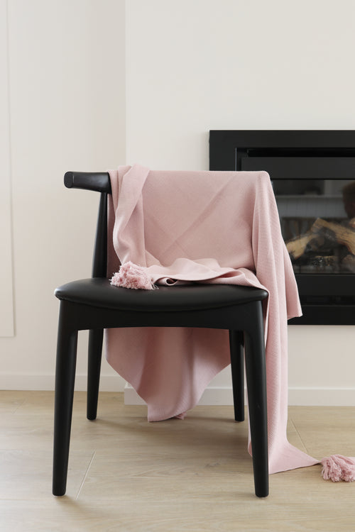 Tassel Blanket - Old Rose