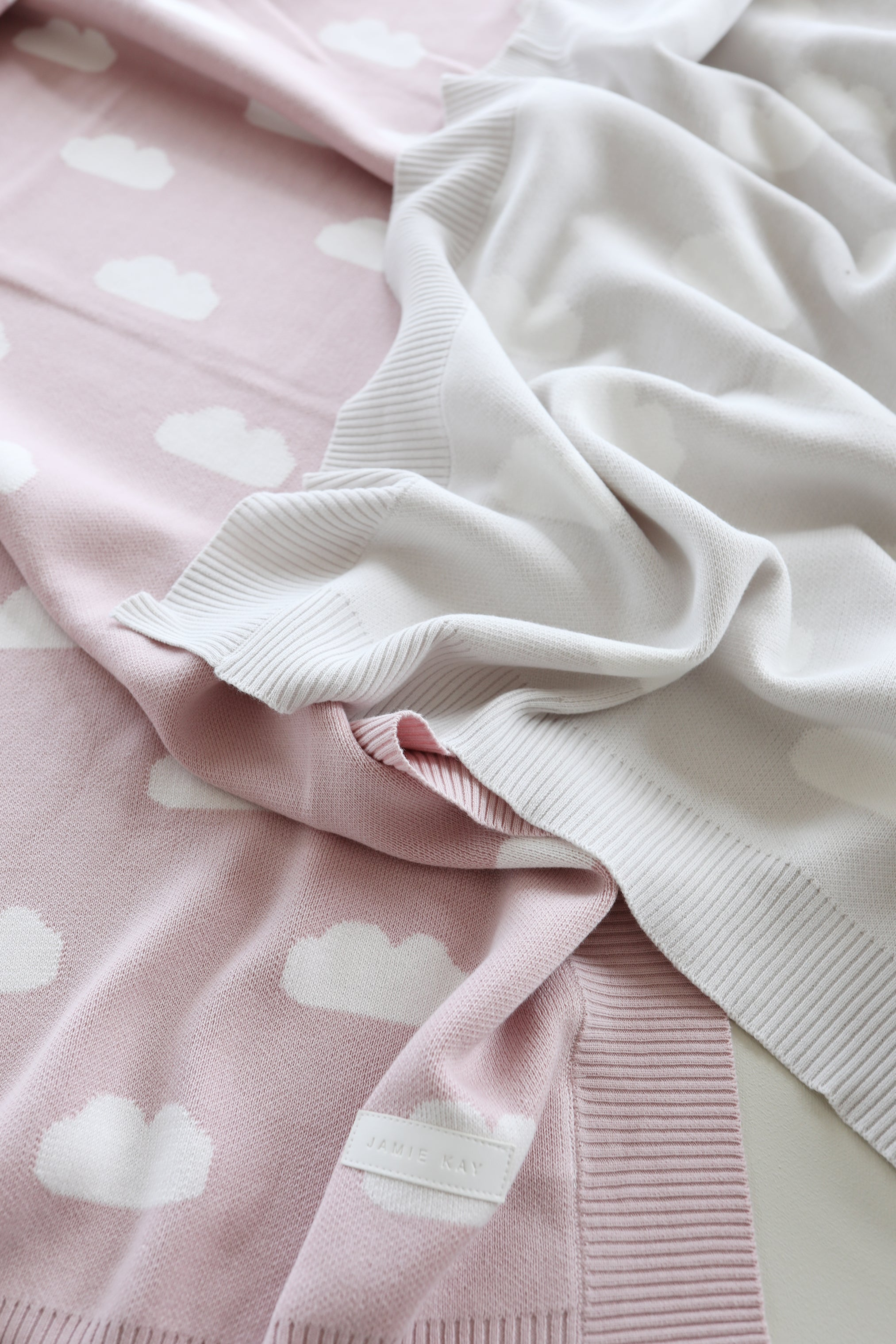 Cloud Cot Blanket - Old Rose