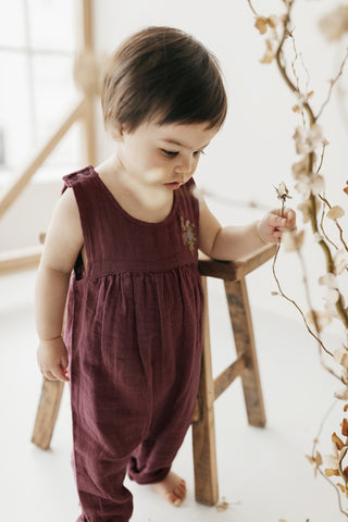 Organic Cotton Short Sleeve Dress - Pink Raspberry
