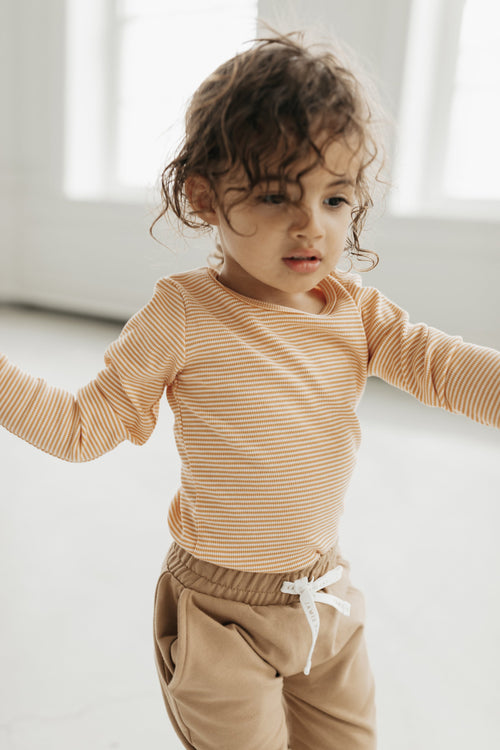 Organic Cotton Charlie Top - Apricot Stripe