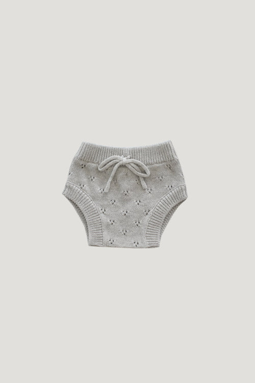 Pointelle Bloomer - Lightest Grey Marle