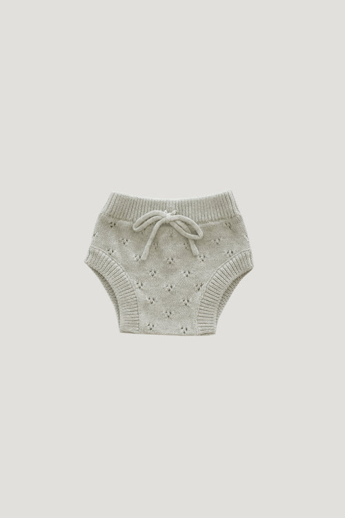 Pointelle Bloomer - Oatmeal marle