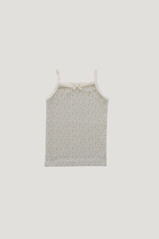 Cotton Modal Singlet - Nostalgia rose