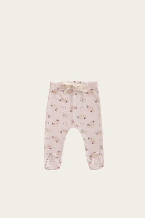 Organic Cotton Footed Pant - Sweet Pea Floral